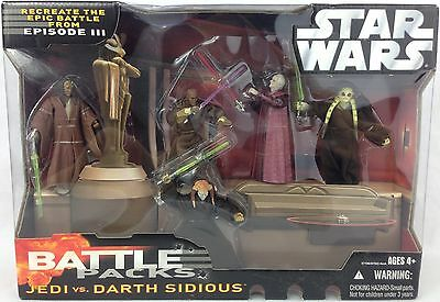 STAR WARS Battle Packs ROTJ Episode III JEDI vs DARTH SIDIOUS Sealed MIB Hasbro.