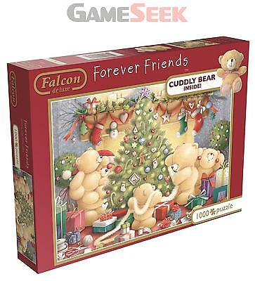 Forever Friends Christmas Jigsaw Puzzle (1000 Pieces) With Plush Teddy Bear -