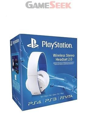 Sony - Wireless Stereo Headset 2.0 (White) - Playstation Ps4 Brand New