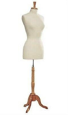 Womens Dressmaker Seamstress Dress Form Off White Mannequin Tailor Female Stand