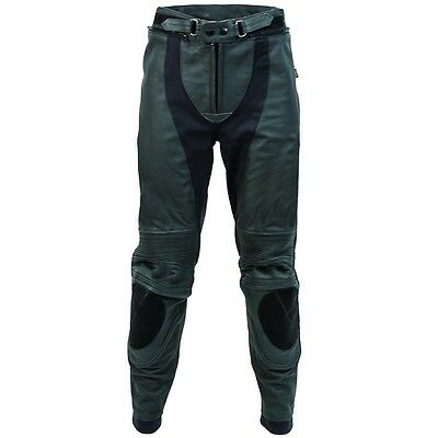 New RICHA Piranha Motorcycle/Motorbike Black Trouser Black/White D3O Knee Armour