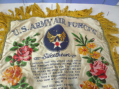 Antic army pillow cover US army scott field ILL sweetheart -