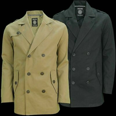 Men's Gent Double Breasted Overcoat Trench Coat Jacket Outwear