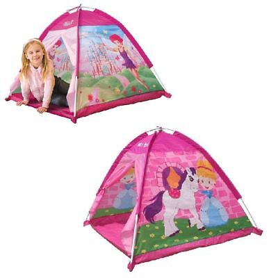 New Childrens In/outdoor Play Tent Fairy / Pony Role Play Quick Assembley Kids