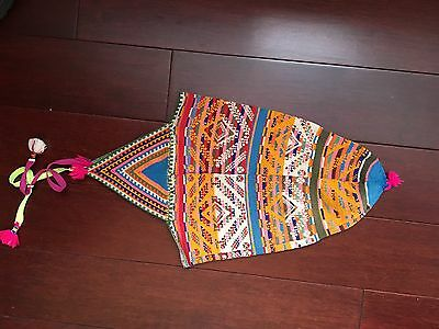 Peruvian Chullo Hat, very tight knit, Glorious Pattern and Colors