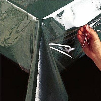 Clear Plastic Table Cloth Cover Wipeable Pvc Waterproof