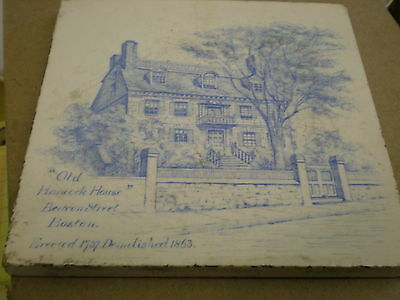Old Tile Minton China Works, Stoke On Trent-Old Hancock House, Boston, MA 1880's