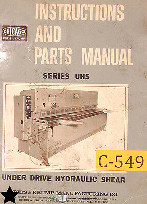 CHICAGO DRIES KRUMP UHS Series, Shear Instructions Parts and ... on