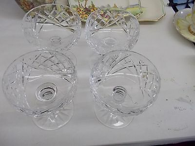 Set of 4-Waterford Crystal Signed Donegal Champagne/Tall Sherbert Glasses