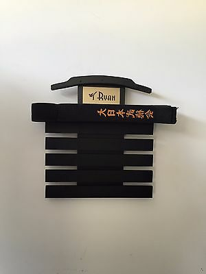 Martial Art Belt Display  Rack karate tae kwon do holder 6 Lev
