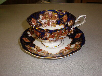 Royal Albert Cup & Saucer - HEIRLOOM Cobalt w/Gold Trim