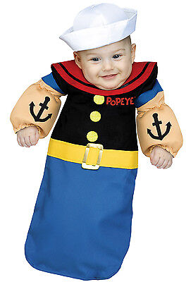 Popeye the Sailor Man Bunting Infant Costume