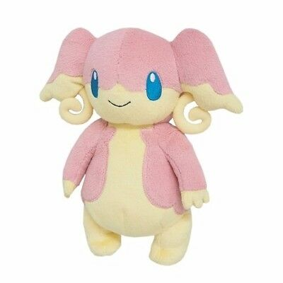 "Brand New Sanei Pokemon Go All Star Collection PP46 Audino 7"" Stuffed Plush Doll"