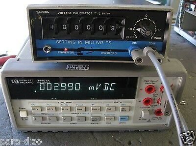 Datel DVC-8500A 5 Digit Voltage Calibrator WORKS GREAT! 1mV to 19.999 Volts DC