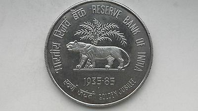 1985 India 100 Rupees Reserve Bank Of India Silver Coin Uncirculated