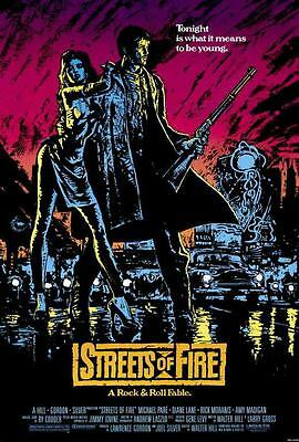 Streets of Fire Movie POSTER 27 x 40, Michael Paré, Diane Lane, A, LICENSED NEW