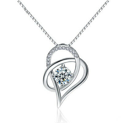 925 Sterling Silver Zigzag Pendant Necklace Chain Womens Jewellery With Gift Box