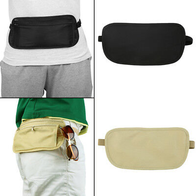 Sport Pouch Hidden Zippered Waist Compact Security Money Waist Belt Bag KG