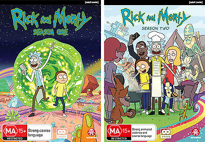 BRAND NEW Rick And Morty : Season 1-2 (DVD, 2016, 4-Disc Set) R4