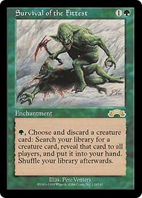 SURVIVAL OF THE FITTEST Exodus MTG Green Enchantment RARE