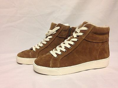 632e8824ec0cca Sam Edelman Britt High Top Sneaker Mocha Suede D8071L1200 New with Box