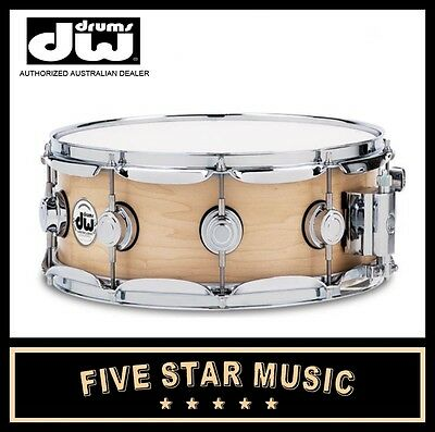 """DW COLLECTORS MAPLE 14""""x6.5"""" 14"""" SNARE SATIN OIL DRUM DRSO6514SSC NEW"""