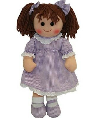 New Childs Toy Rag doll woollen hair soft body & outfit ragdoll dolly - Laura