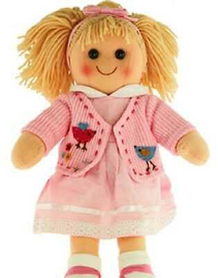 New Childs Toy Rag doll woollen hair soft body & outfit ragdoll dolly - Daisy