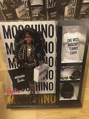 Moschino Barbie Afroamerican Gold Label X Jeremy Scott Collectors Doll By Mattel