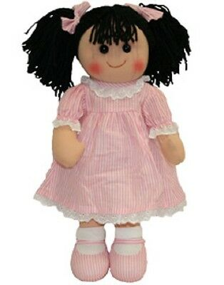 New Childs Toy Rag doll woollen hair soft body & outfit ragdoll dolly - Jess