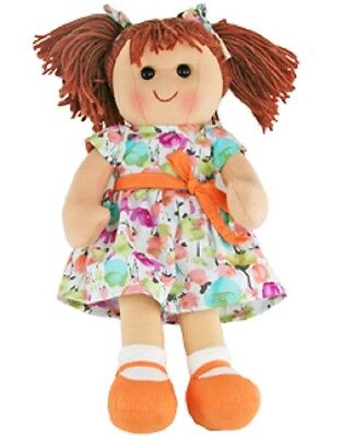 New Hopscotch Childs Toy Rag doll woollen hair soft body & outfit ragdoll Olivia
