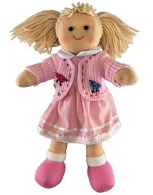 New Childs Toy Rag doll woollen hair soft body & outfit ragdoll dolly - Paige