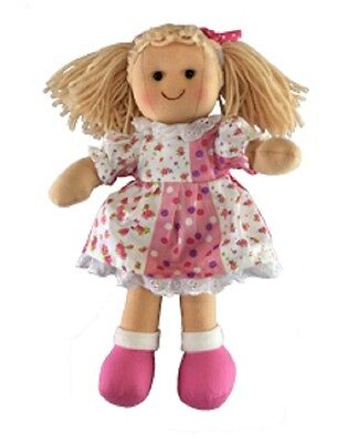 New Childs Toy Rag doll woollen hair soft body & outfit ragdoll dolly - Sienna