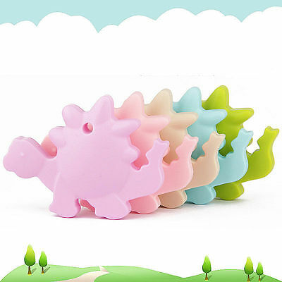 Dinosaur Silicone Teether Chewable Bpa Free Safe Sensory Autism Baby Toys Groovy