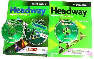 Oxford NEW HEADWAY BEGINNER FOURTH EDITION STUDENT'S BOOKS AND WORKBOOK THE CD