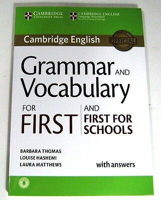 Cambridge English GRAMMAR AN VOCABULARY FOR FIRST AND FIRST FOR SCHOOLS BARBARA