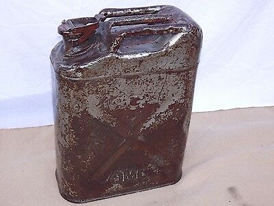 Jerrycan US.A QMC gasoline tôle United states army quartermaster corps 1943 H47c