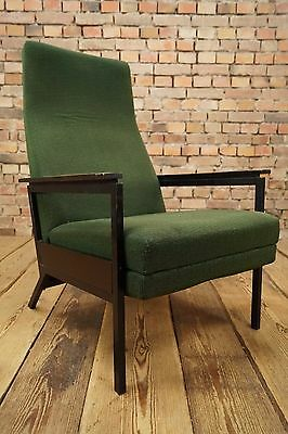 60s VINTAGE TV RELAX ARMCHAIR EASY CHAIR DANISH WING CHAIR FAUTEUIL Wegner Era