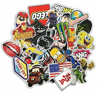 HANIB (Pack of 100) Random Music Film Vinyl Skateboard Snowboard Sticker Graffit
