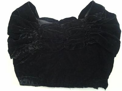 Vintage Velvet Rouged Off The Shoulder Top In Black Size Small Clearance Now £7