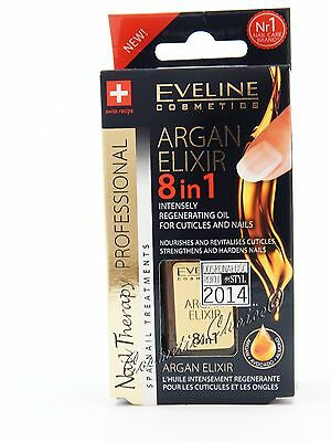 EVELINE Argan Elixir 8in1 - Intensely Regenerating Oil for Nails & Cuticles 12ml