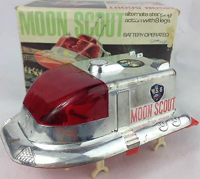 Vintage 1950s Battery Operated MOON SCOUT ROBOT Space Toy Boxed Original RARE!!