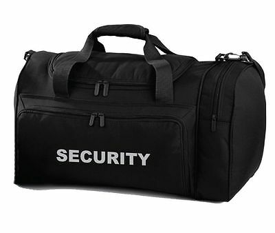 SECURITY Black Holdall/Work Bag Ideal for SIA, SECURITY, PATROL, DOOR STAFF