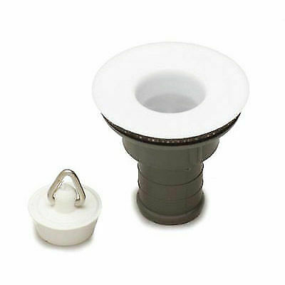 Caravan Sink/basin White Waste & Plug - 3/4""