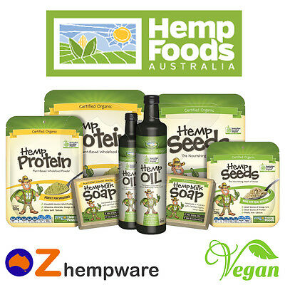 Hemp Seeds Oil Protein Powder Soap Australian Certified Organic Vegan Hemp Foods