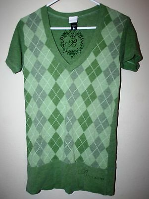 Bellagio Casino Vintage Green Short Sleeve Shirt Ladies