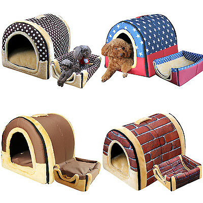 Pet Dog Bed Home Puppy Cat Washable House Cushion Kennel Sofa Chair Portable