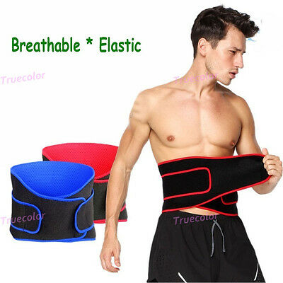 Unisex Back Brace Double Pull Lumbar Support Magnetic Belt Sport Therapy Elastic