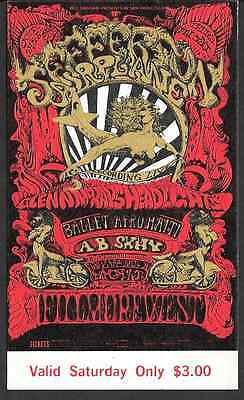Jefferson Airplane Recording Live Album AB Skhy  Fillmore Concert Ticket 1968
