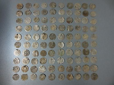 LOT of 100pcs SILVER OTTOMAN TURKISH TURKEY ISLAMIC ARABIC AKCE AKCHE COINS RARE